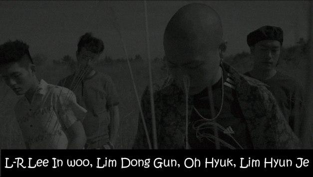 """The members of Hyukoh in the """"Hooka"""" MV"""