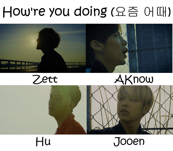 "The members of Afos in the ""How're You Doing"" MV"