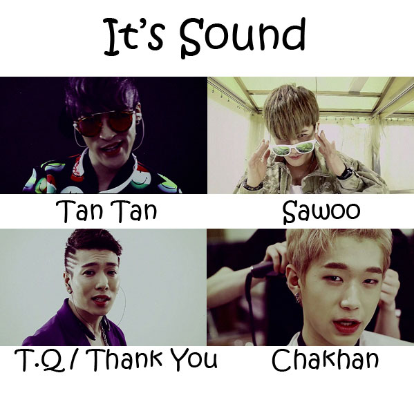 """The members of K2P in the """"It's Sound"""" MV"""