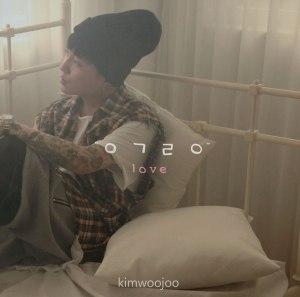 "Album art for Kim Woo Joo's album ""Love"""