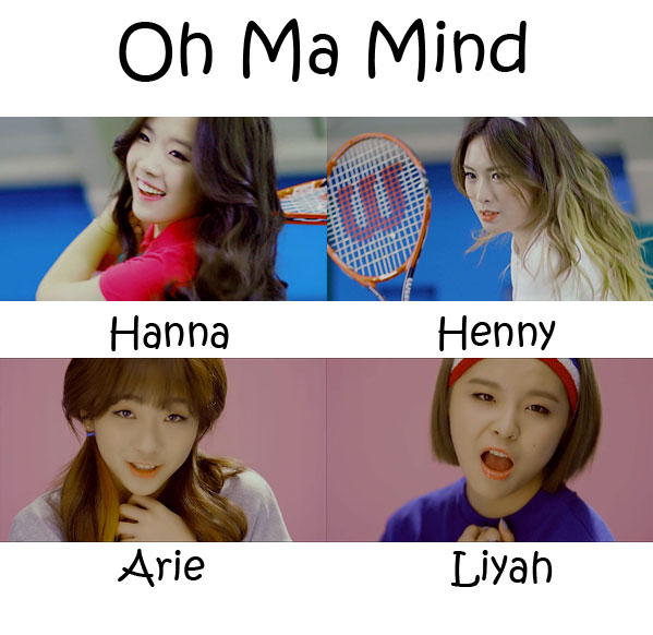"The members of Mixx in the ""Oh Ma Mind"" MV"