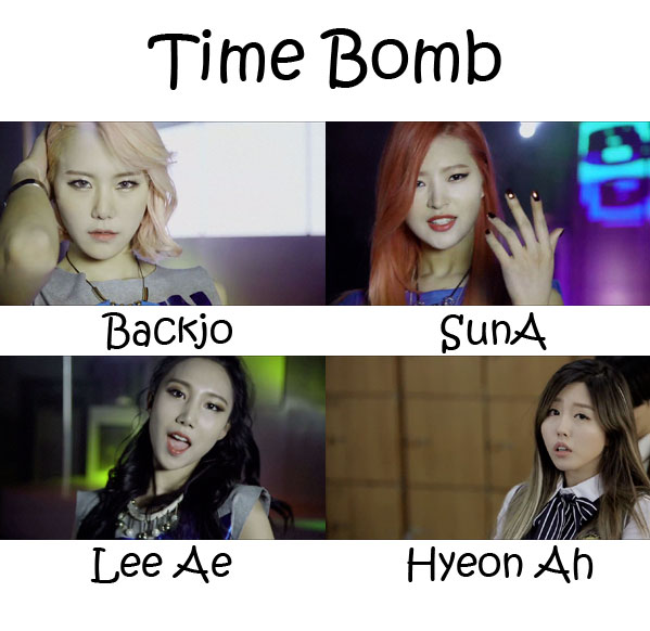 "The members of Icia in the ""Time Bomb"" MV"