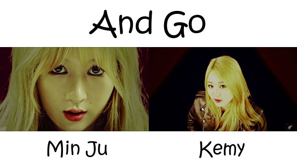 """The members of A.Kor Black in the """"And Go"""" MV"""