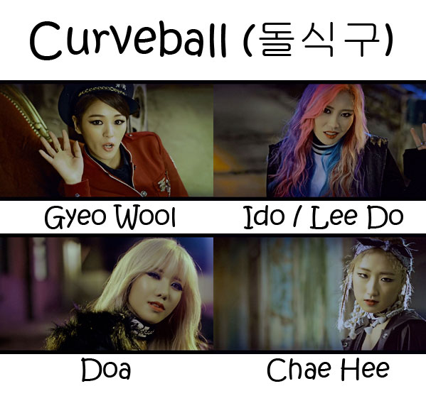 "The members of Sol-T in the ""Curveball"" MV"