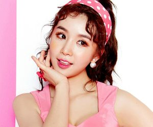 "Fiestar's Cao Lu ""Apple Pie"" promotional picture."