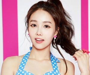 "Fiestar's Linzy ""Apple Pie"" promotional picture."