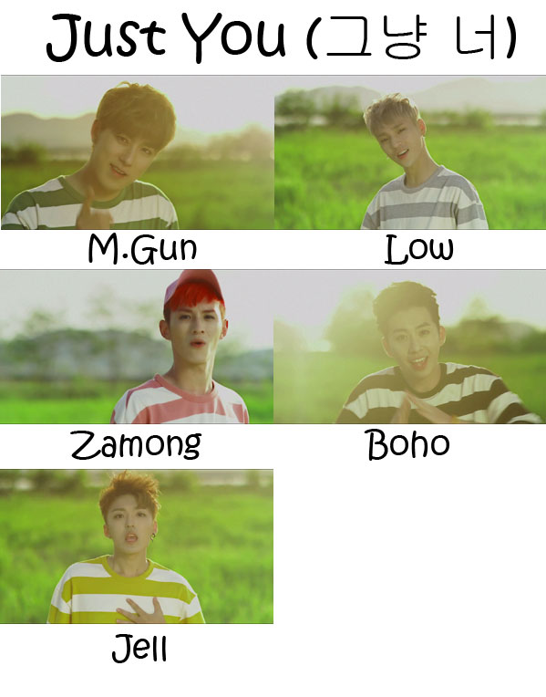"The members of M.Fect in the ""Just You"" MV"