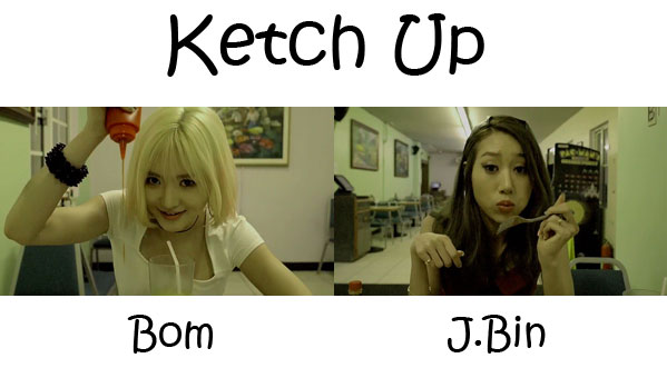 "The members of MOXIE in the ""Ketch Up"" MV"