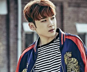 """MAP6's Minhyuk """"Swagger Time"""" promotional picture."""