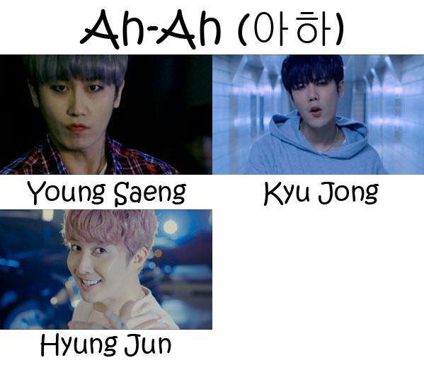 """The members of SS301 in the """"Ah-Ha"""" MV"""