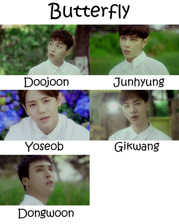 "The members of BEAST in the ""Butterfly"" MV"