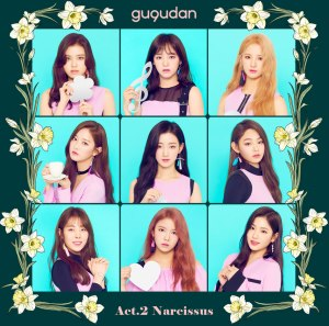 "Album art for Gugudan's album ""Act 2: Narcissus"""