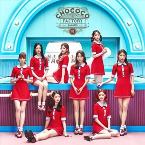"Album art for Gugudan's album ""Chococo Factory"""