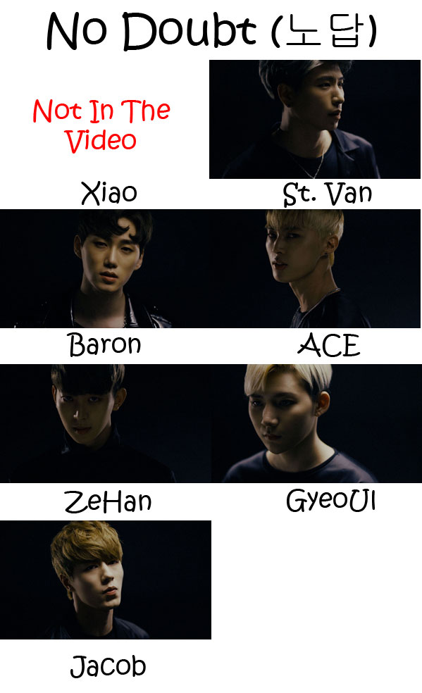"The members of VAV in the ""No Doubt"" MV"