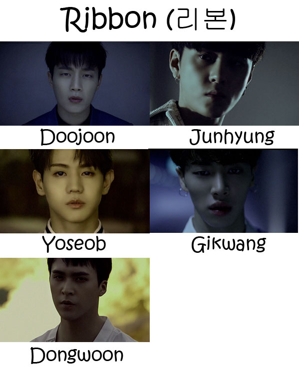 "The members of BEAST in the ""Ribbon"" MV"