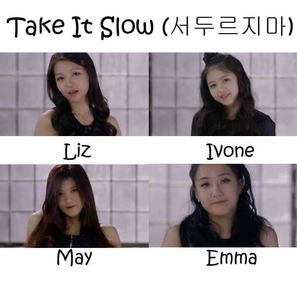 "The members of LIME in the ""Take It Slow MV"""