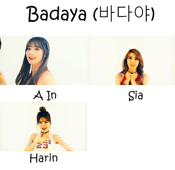 "The members of Tweety in the ""Badaya"" MV"