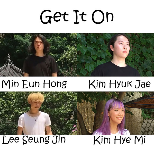 "The members of 24Hours in the ""Get It On"" MV"