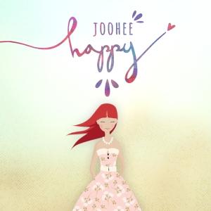 "Album art for JooHee's album ""Happy"""