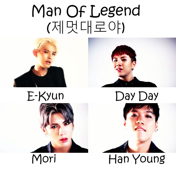 "The members of N.T.B (New Town Boyz) in the ""Man Of Legend"""