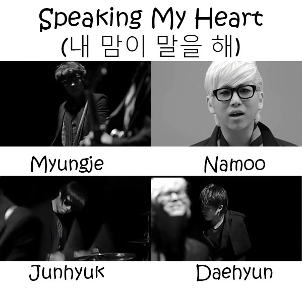 "The members of Annyeong Bada in the ""Speaking My Heart"""