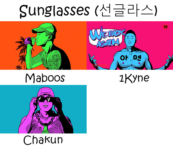 "The members of Electroboyz in the ""Sunglasses"" MV"