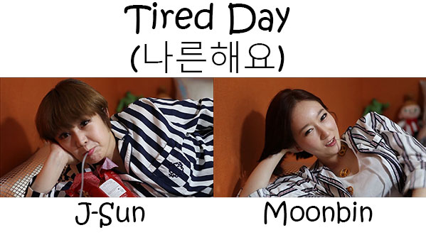 "The members of Pascol in the ""Tired Day"" MV"