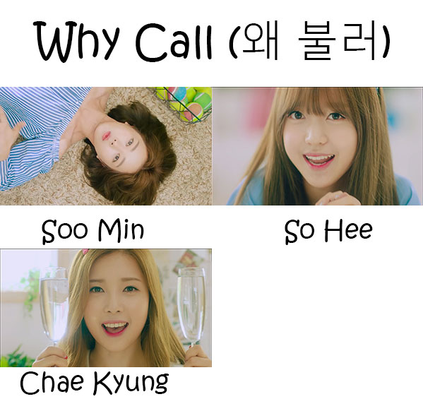 "The members of C.I.V.A in the ""Why Call"" MV"