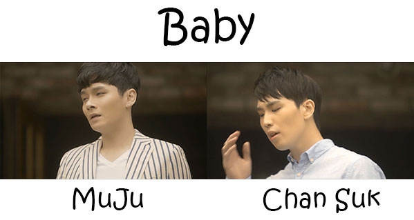 "The members of One.Case in the ""Baby"" MV"