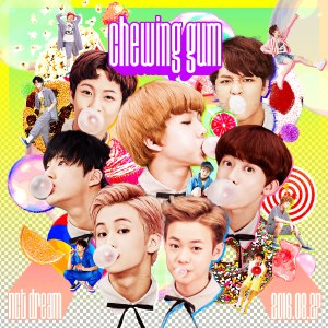 "Album art for NCT Dream's album ""Chewing Gum"""