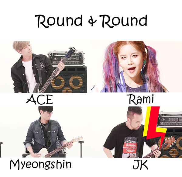 """The members of Five Run Strike in the """"Round & Round"""" MV"""