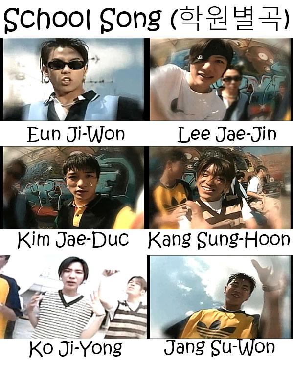 """The members of Sechs Kies in the """"School Song"""" MV"""