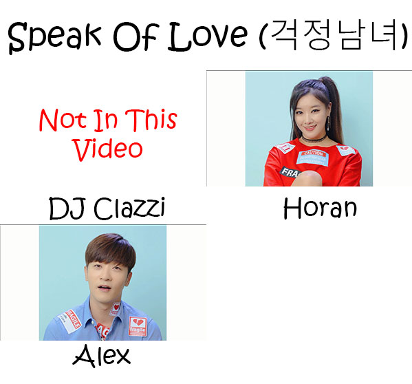 "The members of Clazziquai Project in the ""Speak Of Love"" MV"