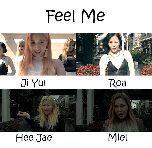 "The members of Sixth Sense in the ""Feel Me"" MV"