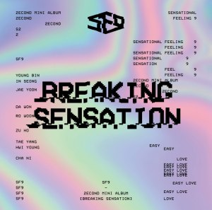 "Album art for SF9's album ""Breaking Sensation"""