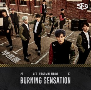 "Album art for SF9's album ""Burning Sensation"""