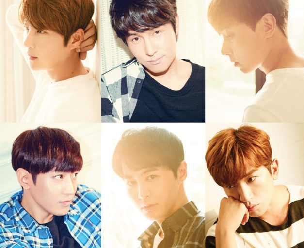 "Shinhwa's ""She Said"" promotional picture."