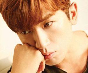 "Shinhwa's Minwoo""She Said"" promotional picture."