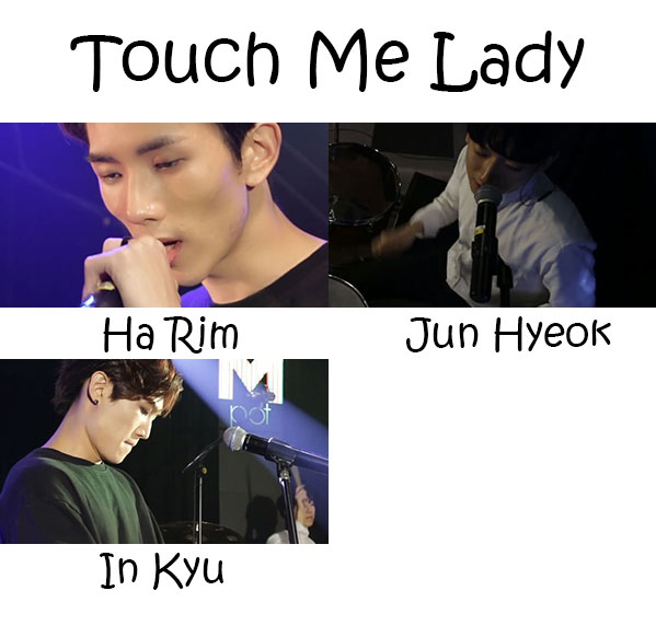 "The members of Movning in the ""Touch Me Lady"""