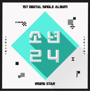 "Album art for Boys24's album ""Rising Star"""