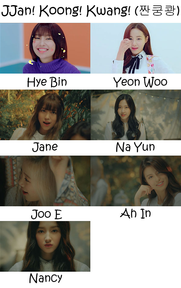 "The members of Momoland in the ""Jjan! Koong! Kwang!"" MV"