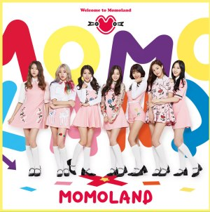 "Album art for Momoland's album ""Welcome To Momoland"""