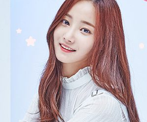 "Momoland's Yeon Woo ""Welcome to Momoland"" promotional picture."
