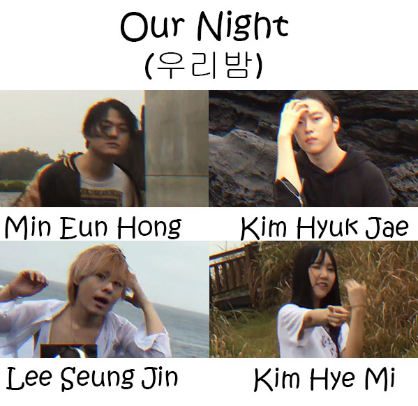 "The members of 24Hours in the ""Our Night"" MV"