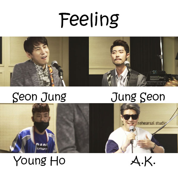 "The members of G.Street in the ""Feeling"" MV"