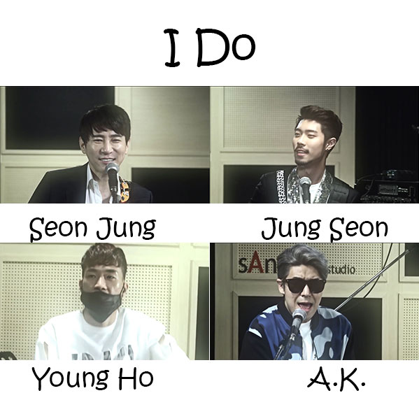 "The members of G.Street in the ""I Do"" MV"