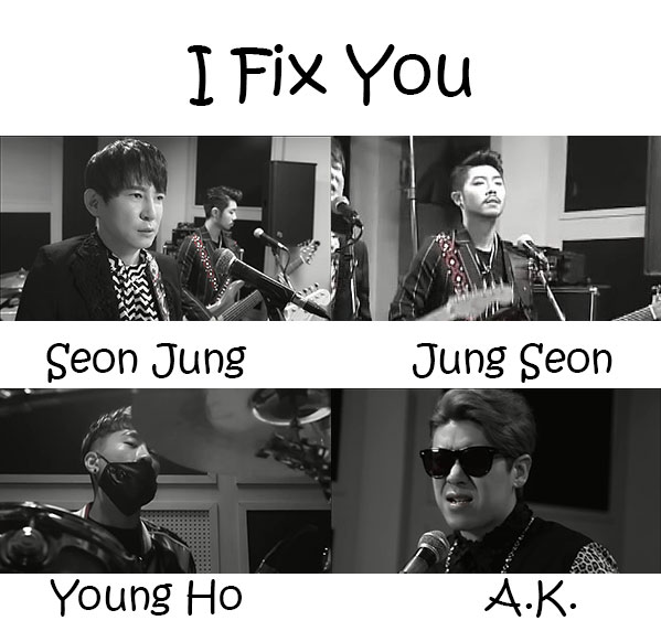 "The members of G.Street in the ""I Fix You"" MV"