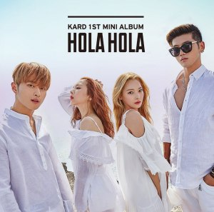 "Album art for K.A.R.D's album ""Hola Hola"""