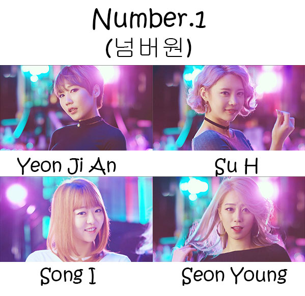 "The members of Heymiss in the ""Number.1"" MV"