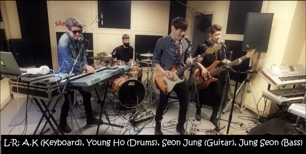 "The members of G.Street in the ""Run"" MV"